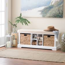 Upholstered Storage Bench With Back Mudroom Entryway Bench And Shoe Rack Entryway Bench With Back