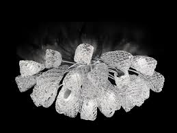 Italian Ceiling Lights Nella Vetrina 401 15 Light Glass Italian Designer Ceiling Light In