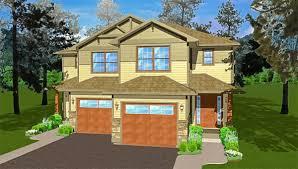 Duplex Building Side By Side Craftsman Duplex House Plan 67719mg Architectural