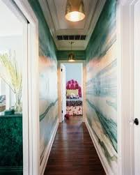 long hallway with family photo gallery decorating ideas