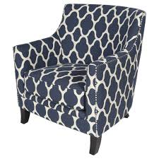 Nailhead Accent Chair Porter Navy Blue And White Nailhead Trim Arabesque Accent
