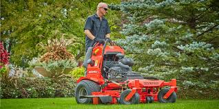 stand on mowers commercial stand on lawn mowers gravely