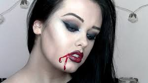 easy vampire halloween makeup tutorial youtube