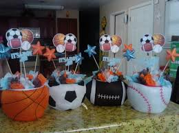 sports theme baby shower all sports baby shower table centerpieces all sport baby shower
