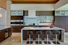 Remodeling Kitchen Ideas Kitchens Stunning Modern Kitchen With Modern Stools And Two Tone