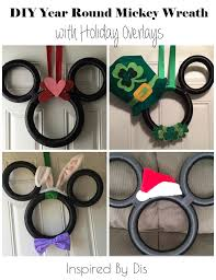 diy year round mickey wreath with holiday overlays this fairy