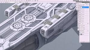 tutorial sketchup modeling pene menn concept art space ship tutorial 2 painting videos
