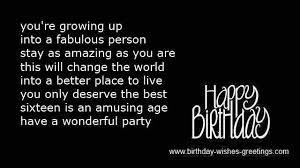 sweet birthday poems best friend 16 year old bday wishes