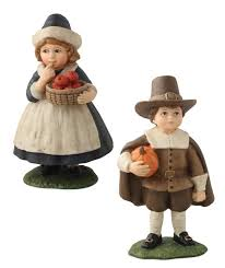 thanksgiving pilgrim figurines 10 inch thanksgiving seasonal collectibles