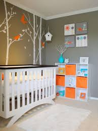 Unique Nursery Decorating Ideas Baby Boy Nursery With Grey Wall Colors And Modern Crib Cool Baby