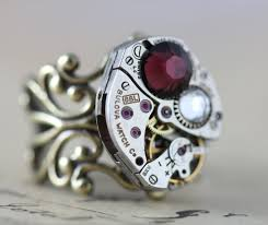 cool jewelry rings images Steampunk ring burgundy cool jewelry statement ring jpeg