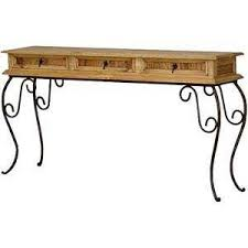 Pine Console Table Mexican Rustic Pine Console Table