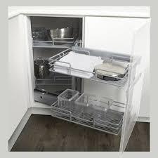 cuisine meuble d angle bas meuble d angle de cuisine caisson bas angle pan coup 95 x 95 cm
