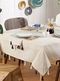 tablecloths shop for table linens online in canada simons tassel linen tablecloth