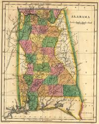 State Of Alabama Map by File 1822 Map Of Alabama Counties Jpg Wikimedia Commons