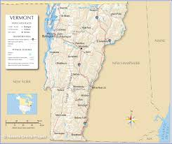 Ma Map Reference Map Of Vermont Usa Nations Online Project