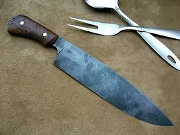 Carbon Steel Kitchen Knives Carbon Steel Kitchen Knives For Antiqued Finish Chefs Knife In 34