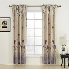Purple Floral Curtains 100 W X 84 L One Panel 20 Sizes Available Country Rustic