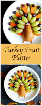 vegan turkey fruit platter allergy treats