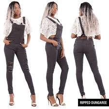 leather jumpsuit womens denim length dungaree overall leather