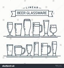 lovely linear flat design vector beer stock vector 309738341
