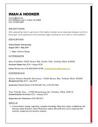 Fashion Industry Resume Resume U2014 Iman Andrea
