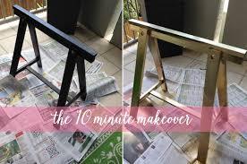 Ikea Sawhorse Desk My 10 Minute Ikea Desk Makeover U2013 Blonde Ambition