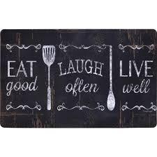 designer kitchen mats home dynamix designer chef eat laugh live 18 in x 30 in anti