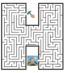 free printable maze for kids uppercase letter h