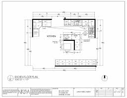 kitchen floor plan draft featuring an l shaped island banquette
