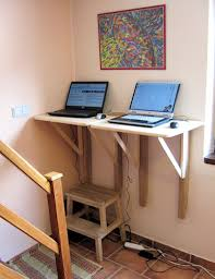 Wall Mount Laptop Desk by Ergonomics Stand By Your Computer Your Health May Depend On It