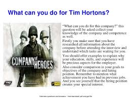 Resume Samples For Tim Hortons by Tim Hortons Interview Questions And Answers