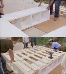 How To Make Wood Platform Bed Frame by Diy Space Saving Bed Frame Design Free Plans Instructions Bed