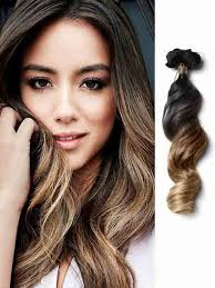 ombre extensions wave ash brown ombre hair extensions