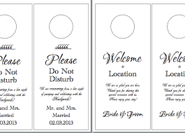 wedding door hanger template wedding door hangers template