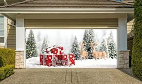 garage door cover banners 3d outside
