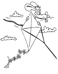 kite coloring pages free print coloringstar