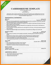 Resume Template Cashier 7 Sample Cashier Resumes Offecial Letter