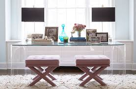 one kings lane table inside a glamorous downtown apartment designed with kids in mind