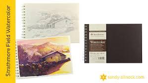 watercolor sketchbook flip through review and advice u2013 sandy allnock