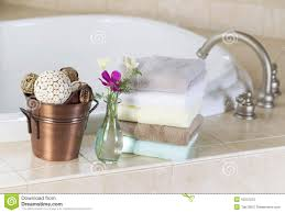 bath with spa accessories stock image image of ornaments 42201223