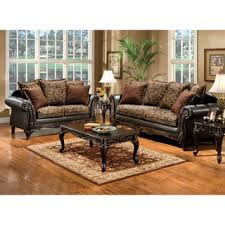 Loveseat Definition Furniture Of America Ruthy Traditional Dark Brown Floral Sofa