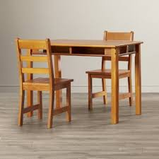 wooden table and chair set for kids table and chairs you ll love wayfair