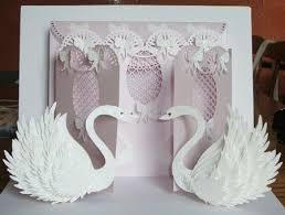 swan wedding wedding swan fronted door card cup694783 596 craftsuprint