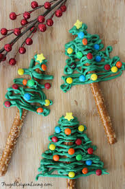 chocolate pretzel christmas trees