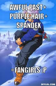 2 Picture Meme Generator - image trunks 2 meme generator awful past purple hair spandex