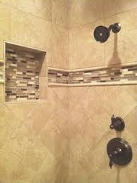 travertine bathroom tile ideas niche and accent tile bathroom ideas