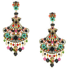 dramatic earrings dramatic colorful drop earrings by dublos jj caprices