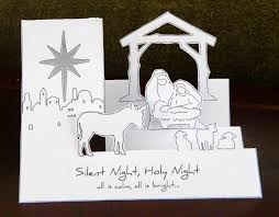 printable 3d nativity card craft central and all things crafty