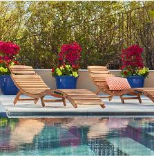 Kidkraft Lounge Chair Kids Outdoor Furniture Set Pool Lounge Wooden 2 Chaise And